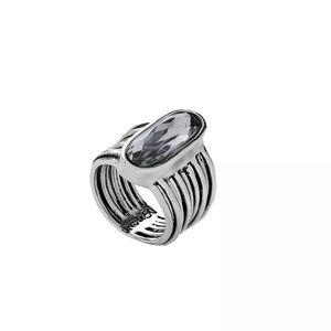 Uno de 50 Looping Swarovski Crystal Ring NWT